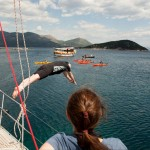 Jeffrey diving off the sailboat into the Adriatic • Croatia Within The Frame 2011 • photo: Jo Charron Portnoy