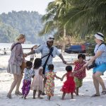 Dancing with kids on the beach • Tribes of Burma Within The Frame 2017 • photo: Ellen Harasimowicz